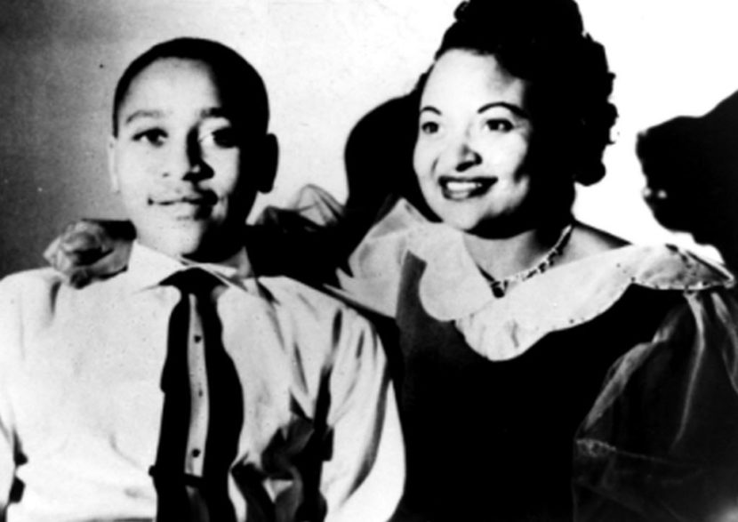 A picture of Emmett Till and his mom